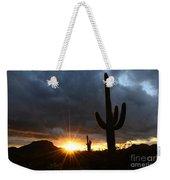 Sonoran Desert Rays Of Hope Weekender Tote Bag by Bob Christopher