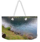 Soothing Lake Crescent Weekender Tote Bag