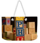 Sophia - Alphabet Blocks Weekender Tote Bag