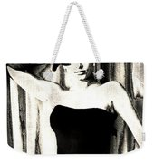 Sophia Loren - Black And White Weekender Tote Bag