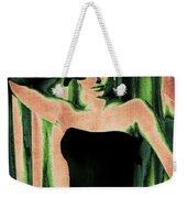 Sophia Loren - Green Pop Art Weekender Tote Bag by Absinthe Art By Michelle LeAnn Scott