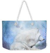 Soul Mates - White Wolves Weekender Tote Bag