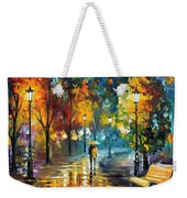 Soul Of The Rain - Palette Knife Oil Painting On Canvas By Leonid Afremov Weekender Tote Bag