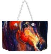 Soulful Horse Painting Weekender Tote Bag by Svetlana Novikova
