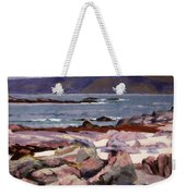 Sound Of Iona  The Burg From The North Shore Weekender Tote Bag