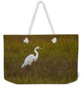Soundside Park Topsail Island Egret Weekender Tote Bag