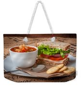 Soup And Sandwich Weekender Tote Bag