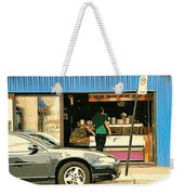 Soups's On Montreal's Favorite Fast Food Road Side Attractions Rue St. Denis Resto Urban City Scene  Weekender Tote Bag