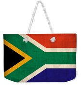 South Africa Flag Vintage Distressed Finish Weekender Tote Bag