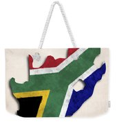 South Africa Map Art With Flag Design Weekender Tote Bag