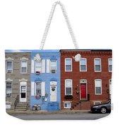South Baltimore Row Homes Weekender Tote Bag