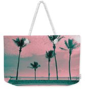 South Beach Miami Tropical Art Deco Five Palms Weekender Tote Bag