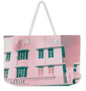South Beach Miami Leslie Tropical Art Deco Hotel Weekender Tote Bag