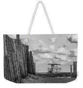 South Beach Lifeguard Shack Weekender Tote Bag