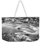 South Boulder Creek Little Waterfalls Rollinsville Bw Weekender Tote Bag