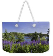 South Bristol And Lupine Flowers On The Coast Of Maine Weekender Tote Bag