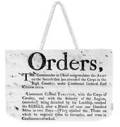 South Carolina, 1780 Weekender Tote Bag