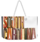 South Carolina Antique Letterpress Printing Blocks Weekender Tote Bag