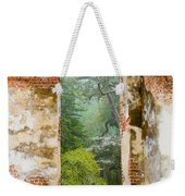 South Carolina Historic Church Photo Sheldon Ruins-- Another View From The Inside Weekender Tote Bag