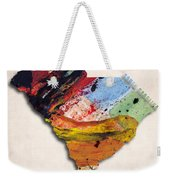 South Carolina Map Art - Painted Map Of South Carolina Weekender Tote Bag