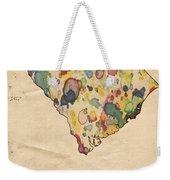 South Carolina Map Vintage Watercolor Weekender Tote Bag