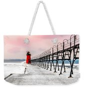 South Haven Light And Pier Weekender Tote Bag