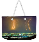 South Mountain Lightning Strike Phoenix Az Weekender Tote Bag