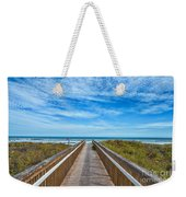 South Padre Island Walkway Weekender Tote Bag
