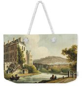South Parade From Bath Illustrated Weekender Tote Bag by John Claude Nattes