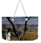 South Rim Grand Canyon Sunset Light On Rock Formations With Woma Weekender Tote Bag