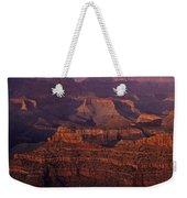 South Rim Grand Canyon Taken Near Yavapai Point Sunset Light On  Weekender Tote Bag