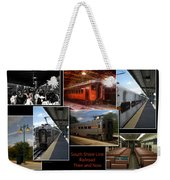 South Shore Line Railroad Collage Weekender Tote Bag