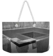 South Tower Pool In Black And White Weekender Tote Bag