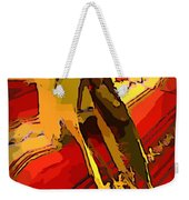 South Western Style Art With A Canadian Moose Skull  Weekender Tote Bag by John Malone