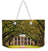 Southern Class Painted Weekender Tote Bag