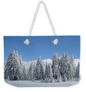 Southern Oregon Forest In Winter Weekender Tote Bag