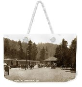 Southern Pacific Depot At Brookdale Santa Cruz Co. Cal. Circa 1910 Weekender Tote Bag