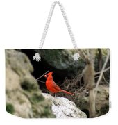 Southern Red Bird By The Flint River Weekender Tote Bag