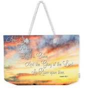 Southern Sunset - Digital Paint IIi With Verse Weekender Tote Bag