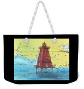 Southwest Reef Lighthouse La Nautical Chart Map Art Cathy Peek Weekender Tote Bag