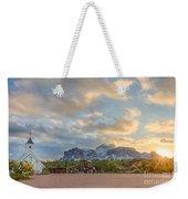Southwest Sunrise Winter Weekender Tote Bag