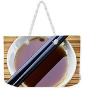 Soy Sauce With Chopsticks Weekender Tote Bag by Elena Elisseeva