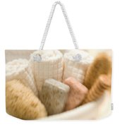Spa Basket With Soaps Weekender Tote Bag