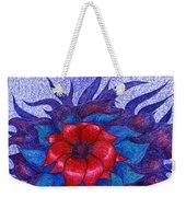 Space Flower Weekender Tote Bag