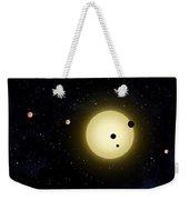 Space Kepler 11 Introduction Weekender Tote Bag