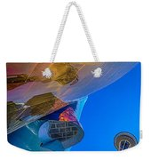 Space Needle And Emp In Perspective Hdr Weekender Tote Bag