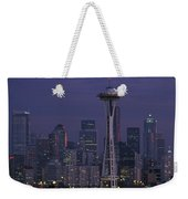 Space Needle At Twilight Weekender Tote Bag