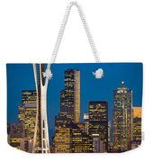 Space Needle Evening Weekender Tote Bag