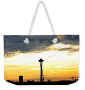 Space Needle Sunset Sillouette Weekender Tote Bag