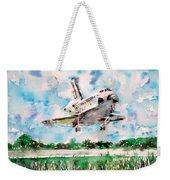 Space Shuttle Landing Weekender Tote Bag